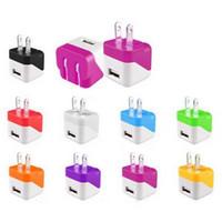 Real 1000mAh 5V 1A Dual Color Mini USB EU US Plug AC Wall Ch...