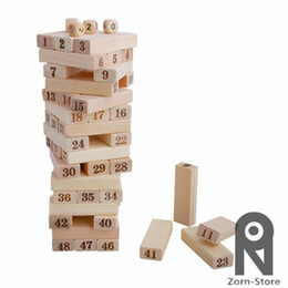 Wholesale Zorn Store Family Board Game Wooden Stacking Tumbling Tower jenga