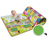 Cheap Wholesale-OP-2014 New Baby Kids Learning Math game Mats Children Two-sided Crawling Pad Beach Picnic Mat Outdoor Blanket 14995