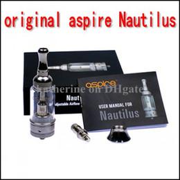 Wholesale Original Aspire Nautilus BDC Atomizer Aspire Adjustable Airflow Glass Tank for Electronic Cigarette E Cigarette Cig Authentic Dual Coil Tank