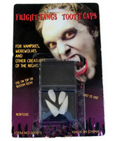 Wholesale 4 Box White Hot Fancy Vampire Denture Teeth Fangs Party Halloween Costume with Box