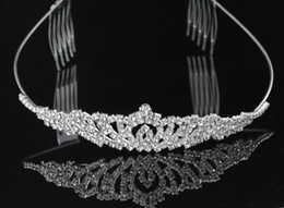 Wholesale In Stock Fashion Romantic Shiny Crystal Wedding Bridal Royal Crowns Tiaras Hair Accessories Charming Fast Shipping New