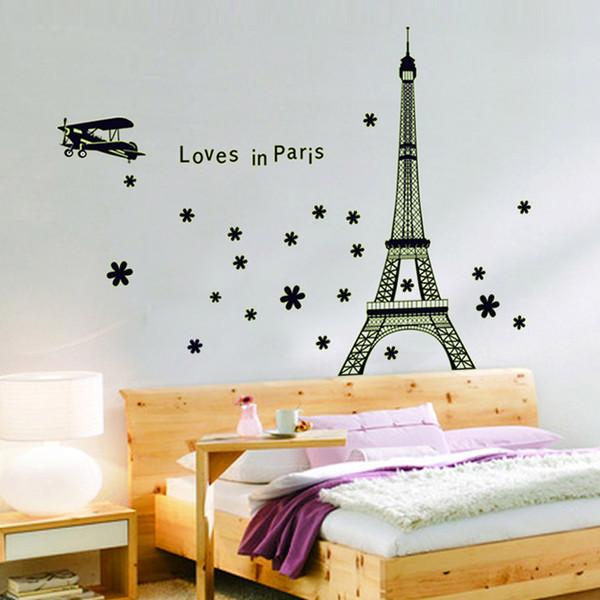 Wholesale Torre Eiffel Hermosa Vista de París noctilucentes pared ...