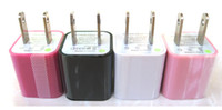 Cheap 100pcs US Plug Wall Charger USB Travel Chargers Home AC Power Adapter Universal For Mobile Phone iPhone 5 5S 5C 4 4S