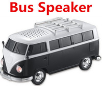 Wholesale WS Mini Portable Bus Toy Stereo Speaker Support TF Card USB MP3 Player With External Battery Subwoofer Speakers