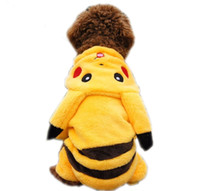 shoes for dogs - New Cute Cartoon Pikachu Design Pet Costume Clothing Cat Dog Clothes Puppy Hoodie Winter Coat for Dogs