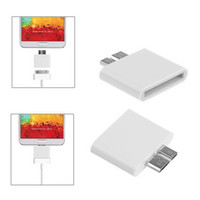 Cheap 30pin Female to Micro USB 3.0 Male Adapter F M For Samsung Galaxy S5 i9600 Note 3 N9000 N9006 N9008