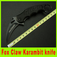 Cheap Hot sale Fox Claw Karambit G10 Handle Black Edition Folding blade knife Outdoor gear EDC Pocket hunting camping christmas gift L