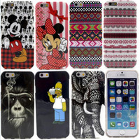 Wholesale Painted TPU Case For Iphone Inch Cute Cartoon Cases Animal Cover Retro Flag Radio Mickey Minnie Mouse Mr Simpson Elephants Skull Skin