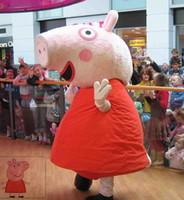 Costume Mascot Peppa Pink Pig animal da mascote do traje frete grátis