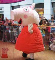 Spedizione Peppa del costume della mascotte Pink Pig animale del costume della mascotte libera