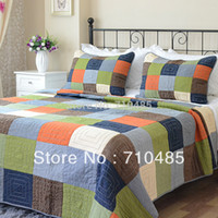 Wholesale Cotton Europe and America style Patchwork Quilted Bedspread