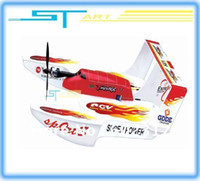 Cheap Free Shipping 3 in 1 4CH 2.4G rc stunt floatplane QS787 remote control Hydro-Glider & flying Boat 787