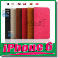 Wholesale For iphone S Wallet Case Leather case Cover with Card Holder luxury phoneFor iphone5 s s for samsung galaxy S5 S4 S3 note3 HTC M8 DHL