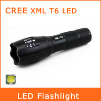 Wholesale Brand New CREE XML T6 LED Lumens Mode Led Flashlight Zoomable Focus Torches Or xAAA Battery