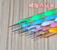 Wholesale m692 freeshipping Way Nail Art Tool Set PRO Marbleizing Dotting Pen