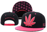 Cheap 2013 Newest Marijuana Black Pink Snapback caps cheap men's most popular Adjustable fashion hat polo hat wholesale & dropshipping