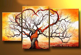 Wholesale Hand painted Hi Q modern wall art home decorative abstract oil painting on canvas set mixorder with framed D558