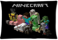 Wholesale Minecraft Pillowcase Cover Rectangle Pillow Case Standard Size quot x30 quot quot x24 quot One side Two sides minecraft softstore
