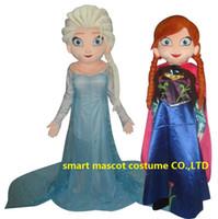 Cheap WR210 frozen anna elsa costume frozen princess elsa mascot costume