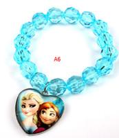 Bracelet anna bracelets - 2016 New pattern of frozen bracelet elsa Anna blue bracelet child s gift High quality