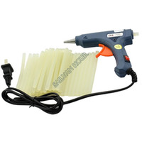 Wholesale 20W V Blue Electric Heating Hot Melt Glue Gun Crafts Repair Tool Professional Glue Sticks High Quality TK0898