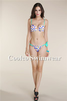 Wholesale Details about print dress arrival Beachwear Top Striped bikini triangle swimsuit swimwear