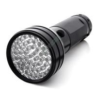 Cheap 5pcs lot 51 UV LED Torches Scorpion Detector Hunter Finder Ultra Violet Blacklight Flashlight AA Black Dropshipping B11 TK1114