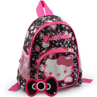 backpack old school - OP NEW Lovely Hello kitty Mini Kid Backpack Cartoon Toddlers School Bags Embroidery Backpack suitable for years old children