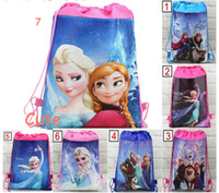 New 7 styles for chose frozen drawstring bags Anna Elsa back...