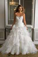 Best Selling Strapless White Ball Gown Wedding Dresses Cryst...