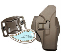 Wholesale OP GLOCK CQC Tactical Airsoft Right handed G17 Holster Pouch Brown