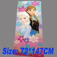 Wholesale Fashion Bath Towel Frozen Bath Towel Elsa Anna Beach Towels Fashion Cotton Towels Children Beach Towel Kids Bath Towel GZ GD50