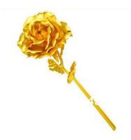 Wholesale wedding gift Valentine s day k gold rose lover s flower cm length