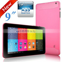 Cheap 2014 China Hot sell Latest Tablet PC 9 inch Boxchip A33 Quad Core 1.5GHz Bluetooth 512MB 8GB Android 4.4 kitkat V90 N90 Netflix 100pcs