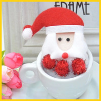 Barrettes Plastic,Resins Solid Santa Claus Clip Hair accessories 2014 Children's Christmas ornaments wholesale Red H06