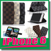 Wholesale For Iphone Wallet Case Leather case Lattice Style Silicone Case For iphone5 S Pieces For Samsung galaxy S5 LG G3 opp package DHL Free