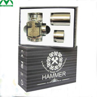 Cheap Best Hammer Epipe Mod E-Cigarette E Pipe Mod Mechanical Stainless Steel E-pipe Working with 18350 Battery DHL free