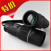 Cheap Wholesale-OP-Hd monocular telescope double 16x52 large eyepiece green film night vision