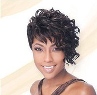 auburn highlights - 2014 New Short Fashion Synthetic Black with auburn Highlights Wig
