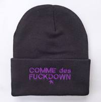 Beret Red Man 2014 new comme des fuck down you beanie for men sports hip hop women caps cotton knitted men winter hat wholesale Free Shipping
