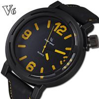 Cheap Famous Brand Name V6 Import Quartz Movement Silicone Straps Watch Analog Relogio Clock Casual Fashion Men Quartz Watches