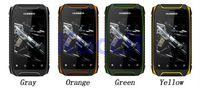 Cheap Hummer H1 smartphones Dual Core 3.5inch Rugged Mobile Phone MTK6572A 4.2.2 4GB Ram Dustproof shockproof Waterproof ip67 GPS