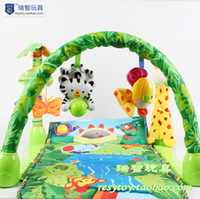 Wholesale OP Multifunctional Baby Gym Playmat Musical Animals Forrest Game Blanket Baby Playpen