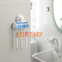 Wholesale Brand New Toothbrush Holder Suction Stand Rack Bathroom Accessory Wall Mount Holder F