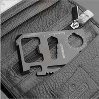 Cheap 200PCS Mini Stainless Steel Multi Pocket Credit Card Tool Portable Outdoor Survival Camping Wallet Card Tools Knife DHL Shipping