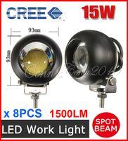 "Spot Beam 30 Degree 1750lm 8PCS 3.5"" 15W CREE LED Driving Work Light COB Chip Offroad SUV ATV 4WD 4x4 Spot Beam 9-33V 1500lm JEEP Truck Wagon Fog Headlamp High Power"