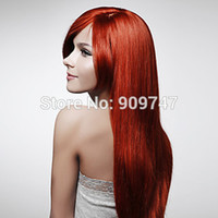 Cheap Free shipping Long Synthetic natural Look Straight Hair Wigs HEAT-RESISTANT FIBER wig