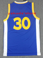 Wholesale 2014 Stephen Curry Basketball Jersey Shirts Cheap Curry Blue Basketball Jersey Discount Basketball Wears Customized Basketball Tops