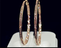 big hoop earrings - 2014 popular earrings With rhinestone circle earrings Simple earrings big circle gold hoop earrings for women